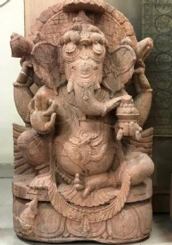 FInely carved sculpture of Ganesha, Orissa